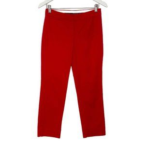 Sandro Studio Red Flat Front Tapered Trouser